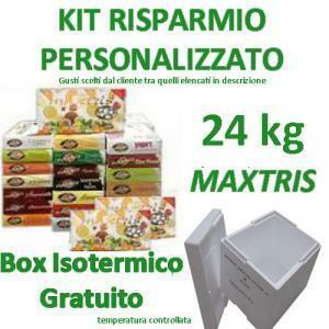 maxtris kit risparmio personalizzato 24 kg - confetti maxtris