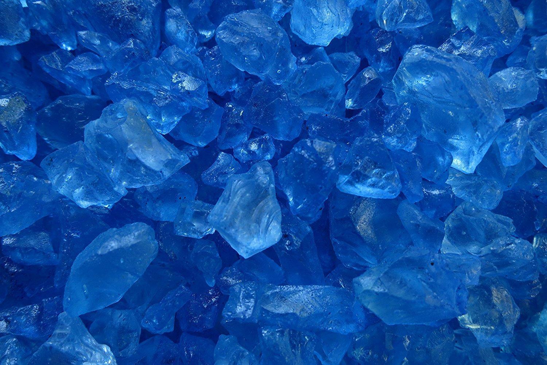 eurosand eurosand sassi di vetro blu 4-10 mm (1 kg)