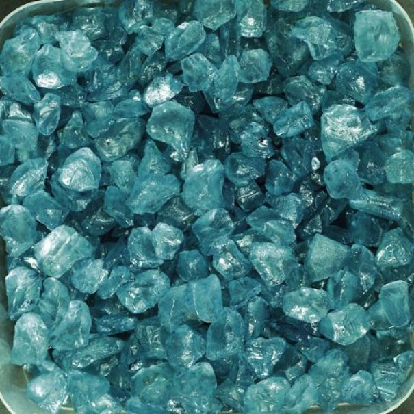 eurosand eurosand sassi di vetro turchese 4-10 mm (1kg)