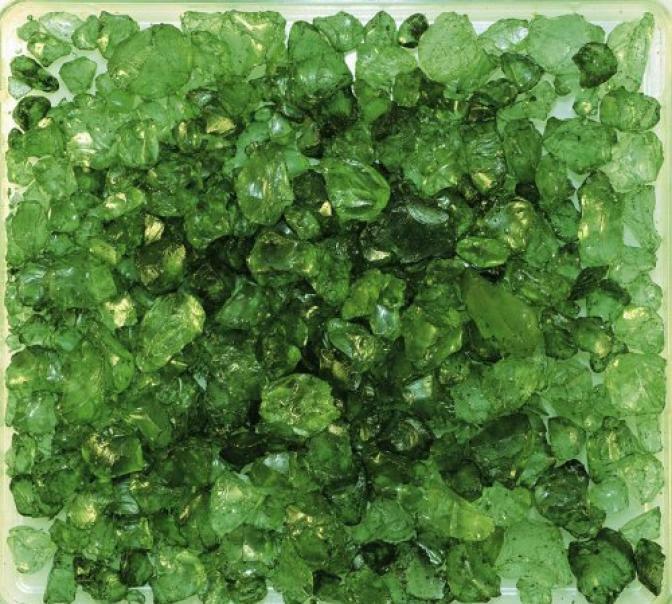 eurosand eurosand sassi di vetro verde  4-10 mm (1kg)