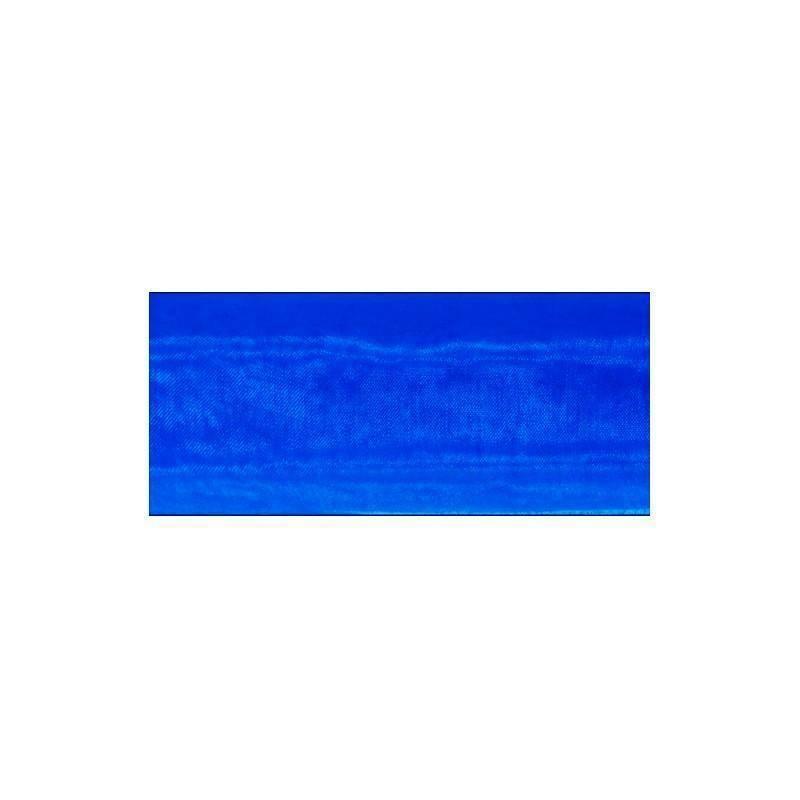 organza blu - 70 cm x 10 yd