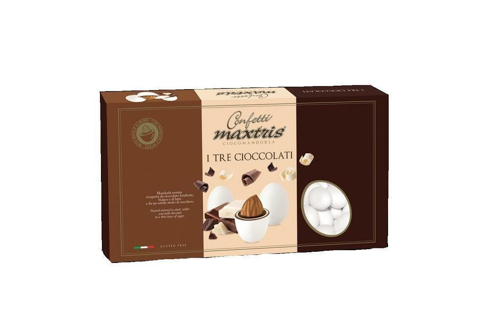 maxtris confetti maxtris tre cioccolati - 1 kg