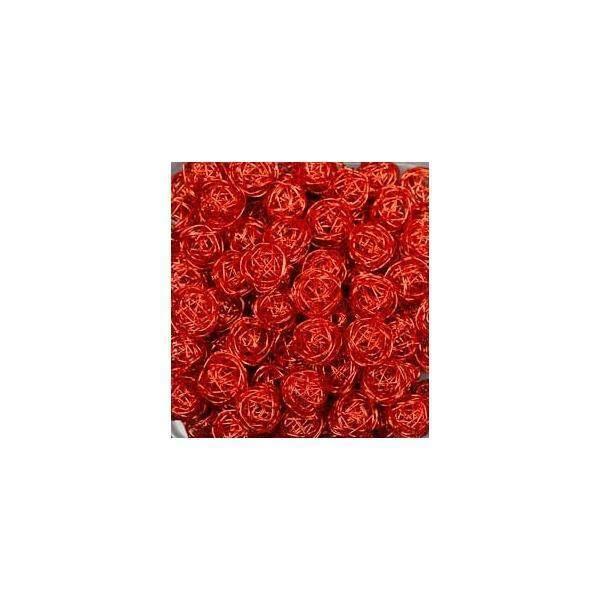 eurosand sfera filo metallico rosso 30 mm - 20 pz