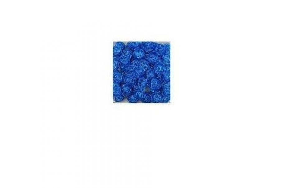 eurosand sfera filo metallico blu 30 mm - 20 pz