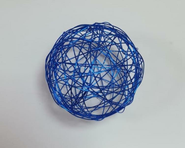 eurosand sfera filo metallico blu 50 mm - 8 pz
