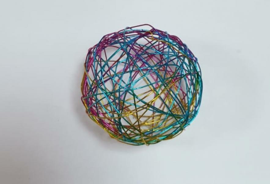 eurosand sfera filo metallico multicolor 50 mm - 8 pz