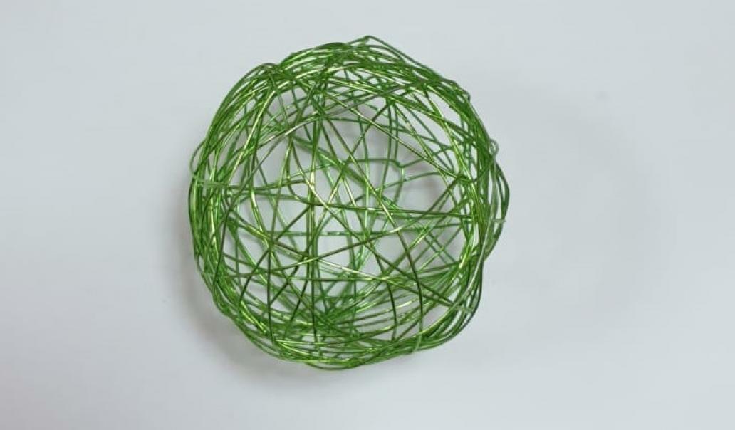 eurosand sfera filo metallico verde mela 50 mm - 8 pz