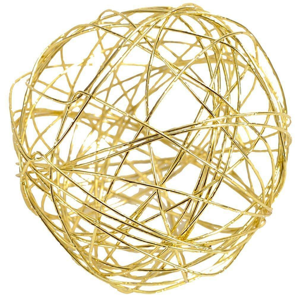 eurosand sfera filo metallico oro 80 mm