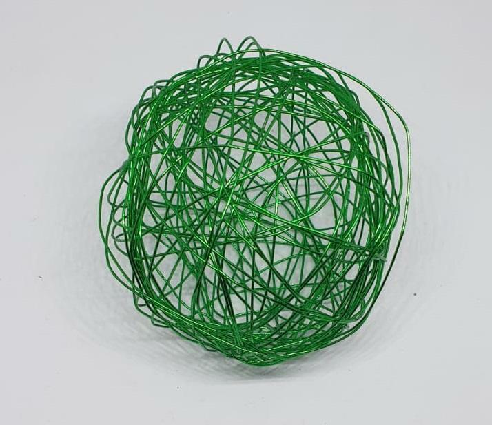 eurosand sfera filo metallico verde 80 mm