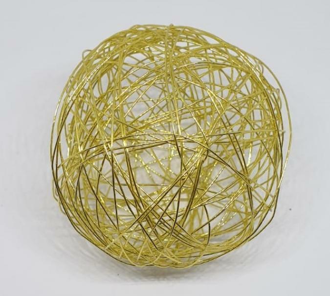 eurosand sfera filo metallico oro bianco 80 mm