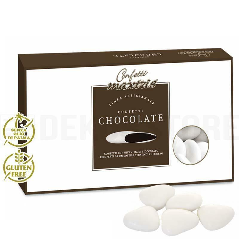 maxtris maxtris tesorini - confetti al cioccolato a cuore - 1 kg
