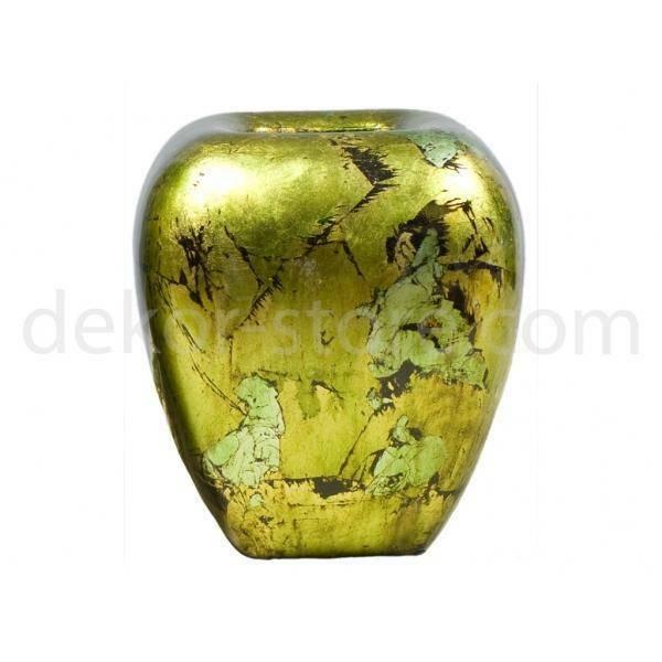 vaso quadrato verde, 25 cm