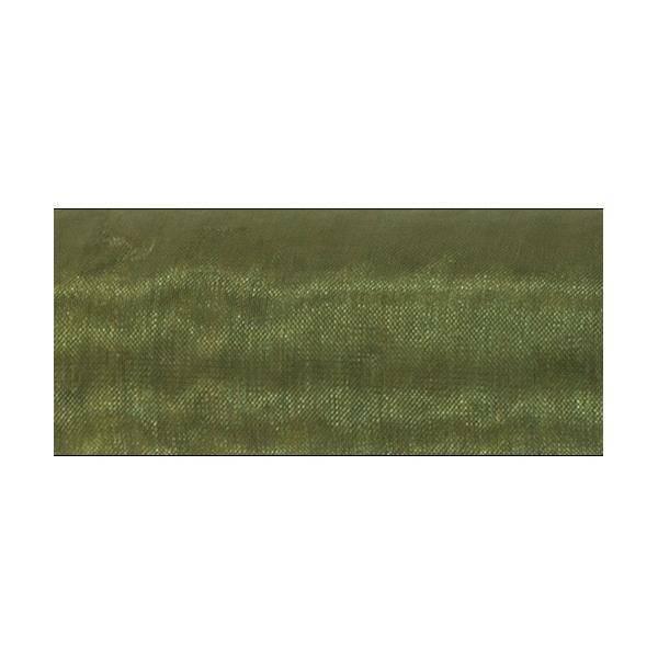 organza verde oliva - 47 cm x 10 yd