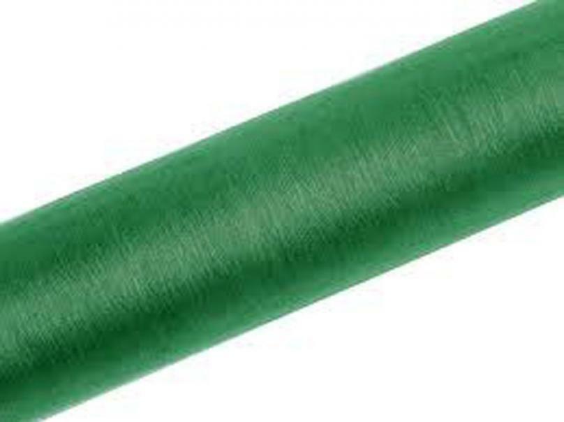 organza verde scuro - 47 cm x 10 yd