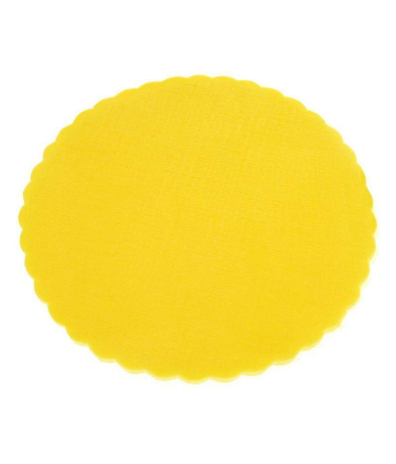 velo di fata giallo smerlato (24 cm x 50 pz)