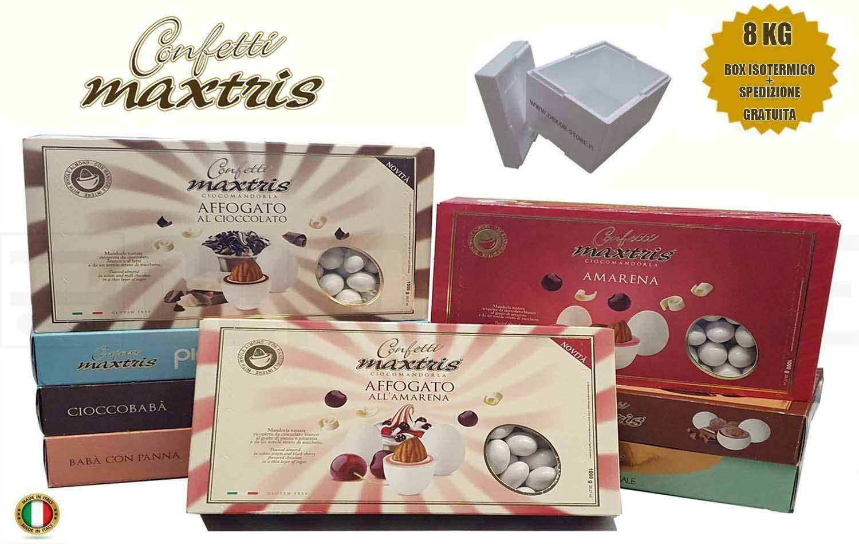 maxtris kit risparmio confetti maxtris 8 kg gusti personalizzati - per 80/120 invitati