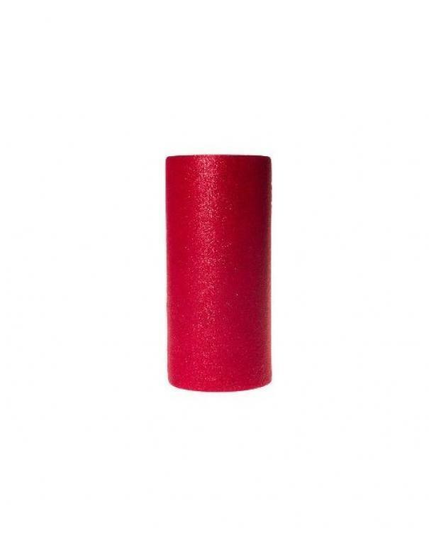 rgb tulle glitter rosso - 25 cm x 100 mt