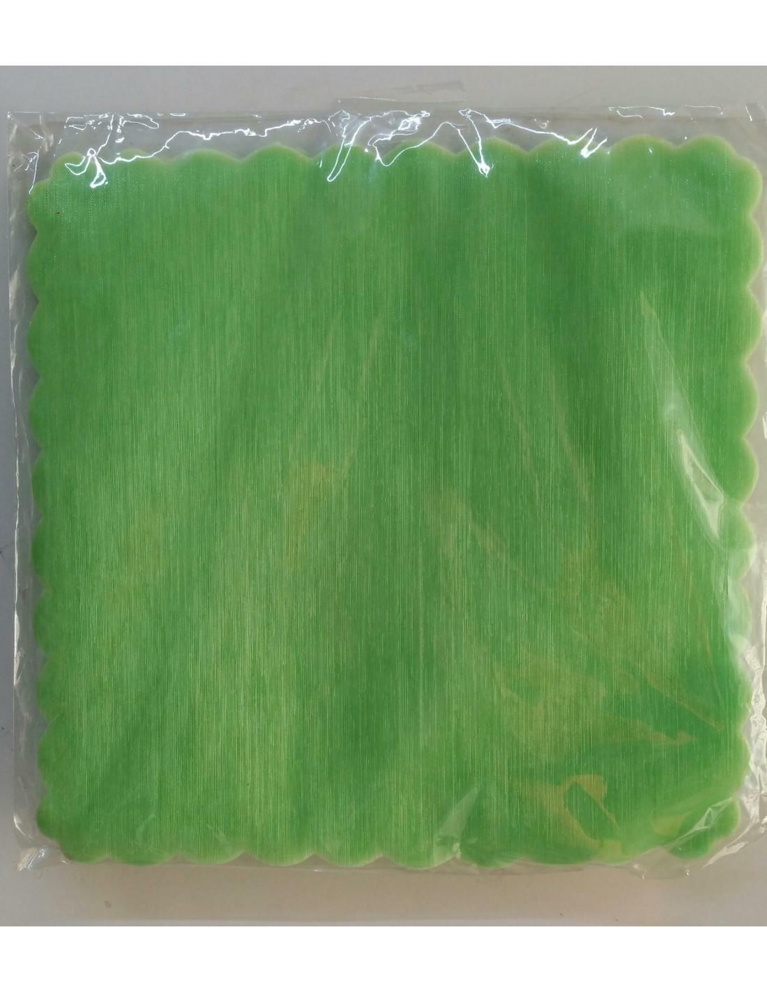 velo di fata quadrato verde mela (23 cm x 50 pz)