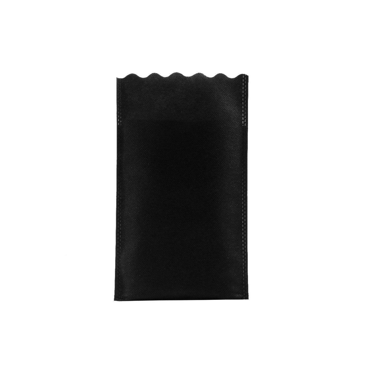 dol24 srl sacchetto tnt 15x25 cm smerlato - nero