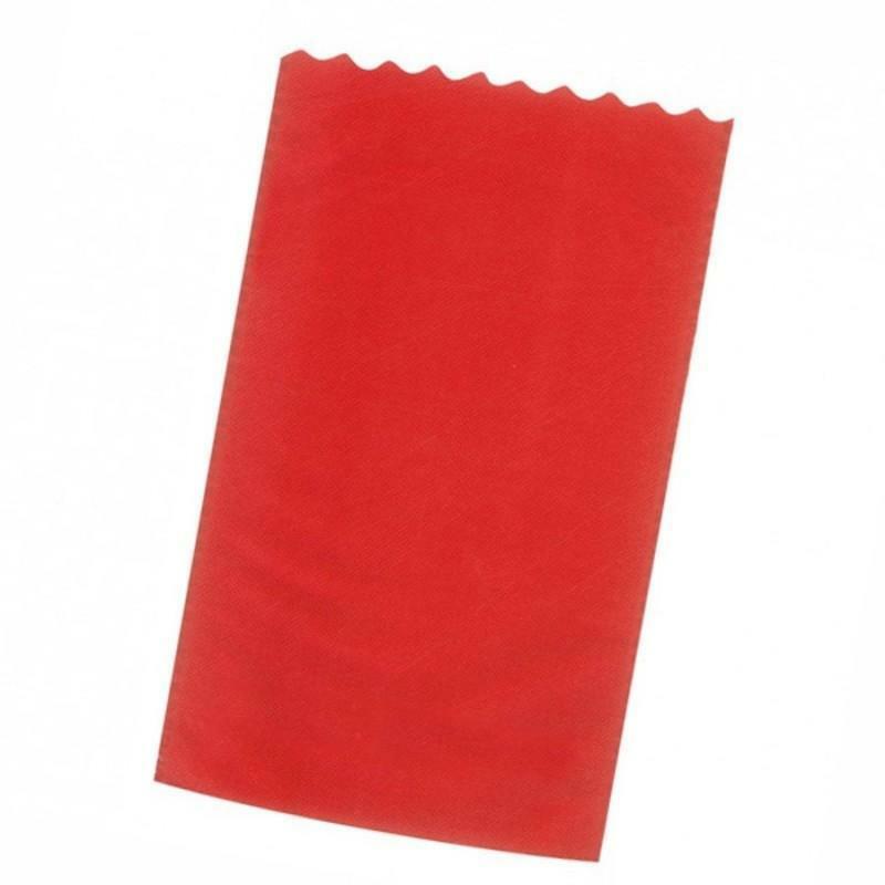 dol24 srl sacchetto tnt 15x25 cm smerlato - rosso