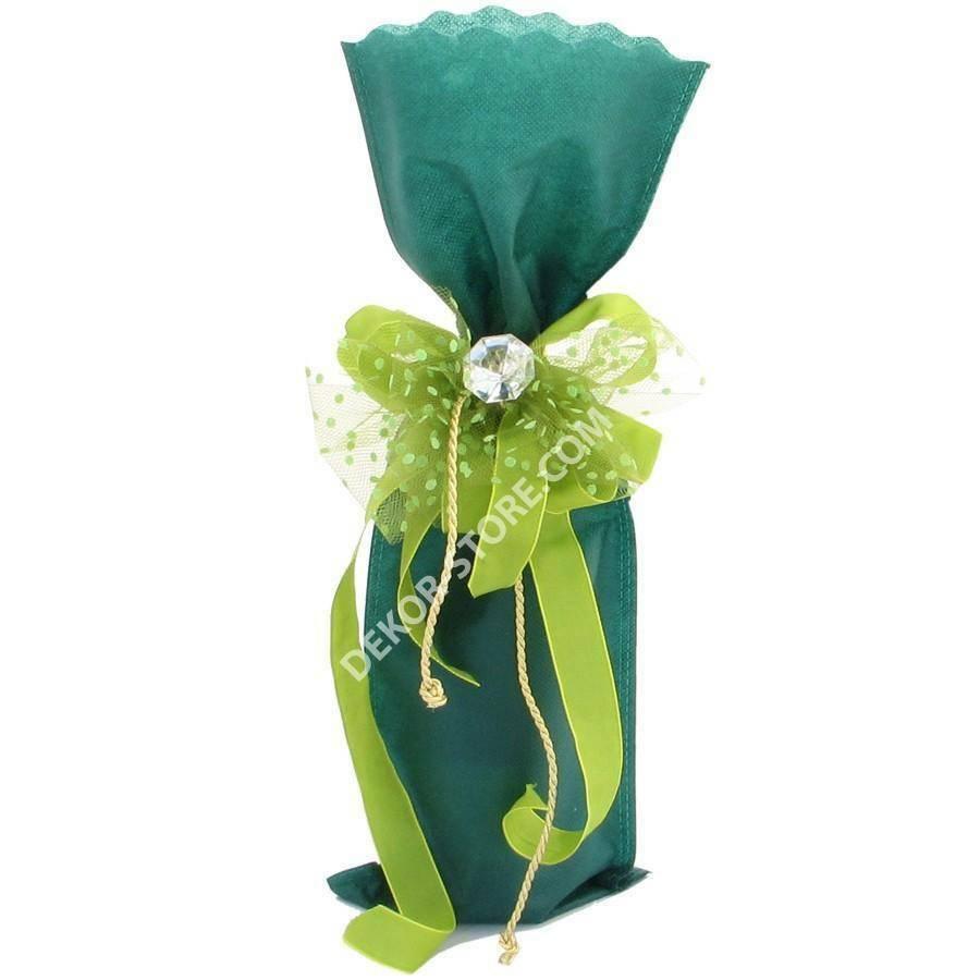 dol24 srl sacchetto tnt 18x50 cm smerlato - verde scuro
