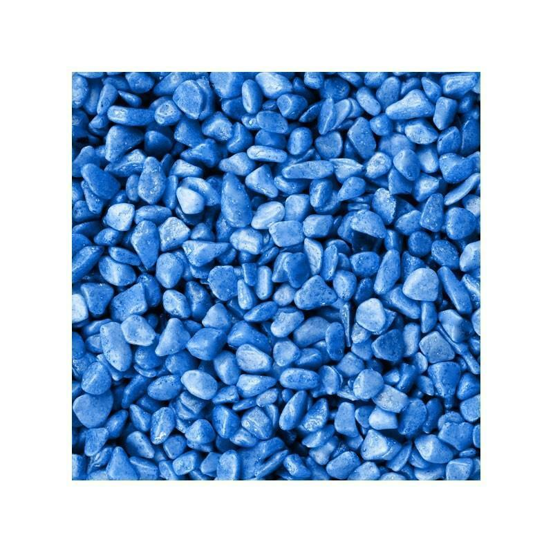 eurosand eurosand ghiaia 6-8 mm - blu (1kg)