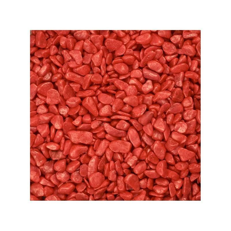 eurosand eurosand ghiaia 6-8 mm - rosso (1kg)
