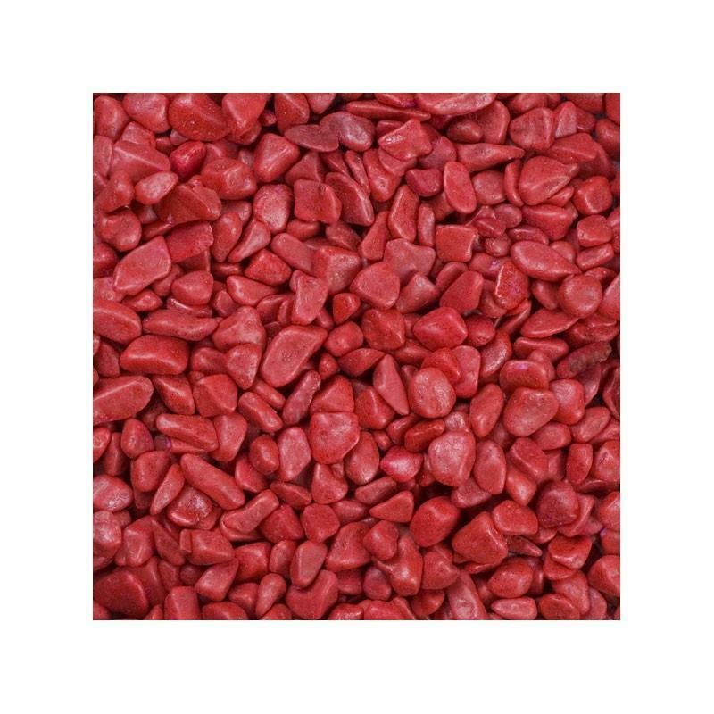 eurosand eurosand ghiaia 6-8 mm - rosso carminio (1kg)