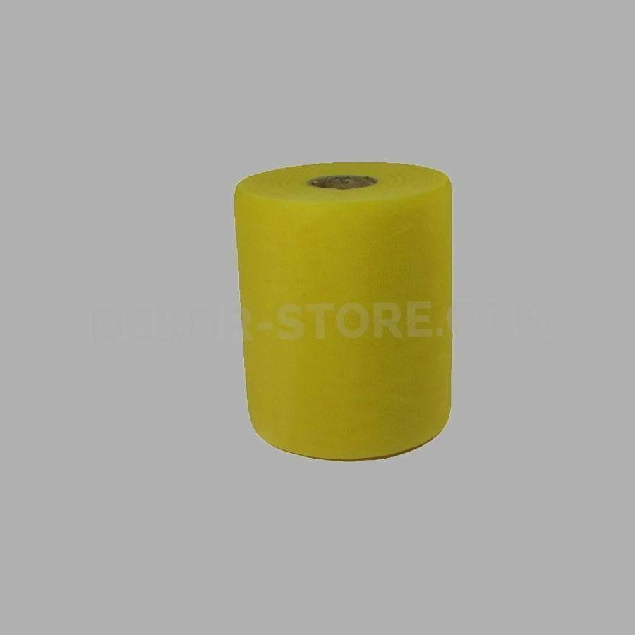 rgb tulle giallo - 12,5 cm x 100 mt