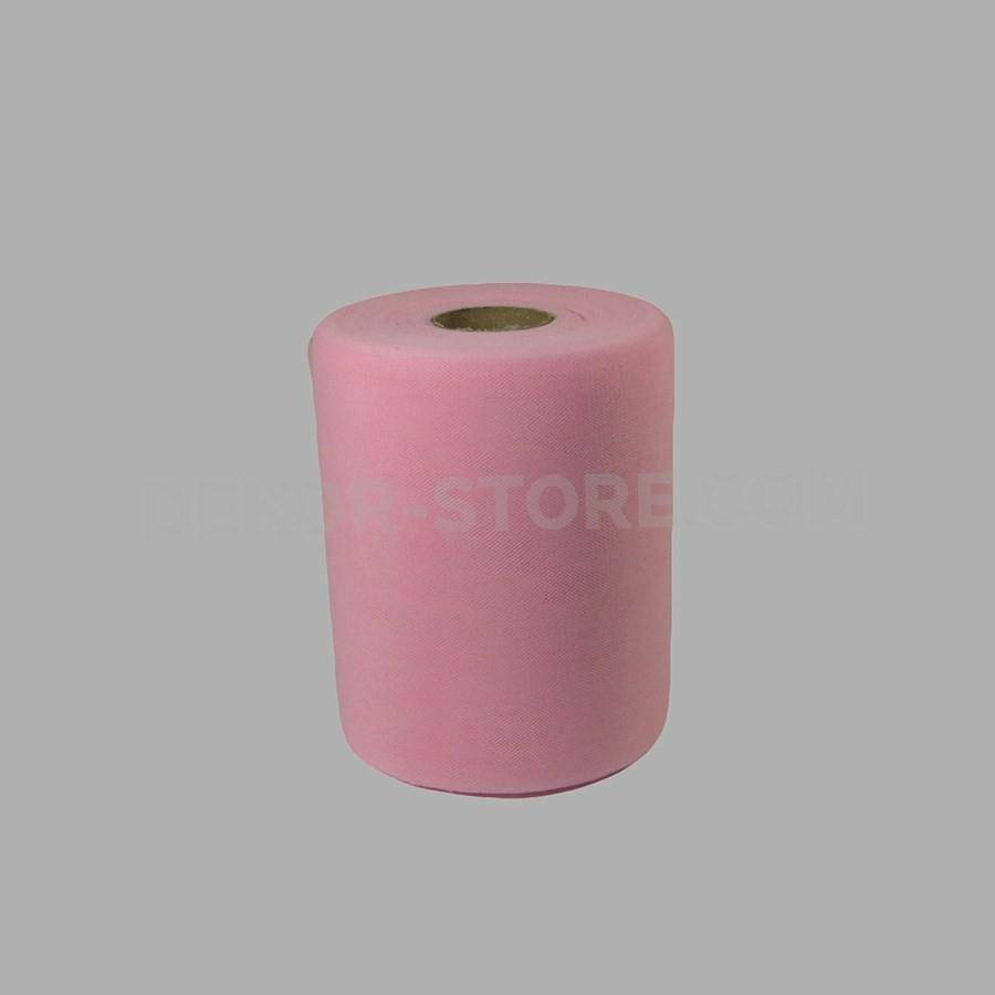 rgb tulle rosa - 12,5 cm x 100 mt