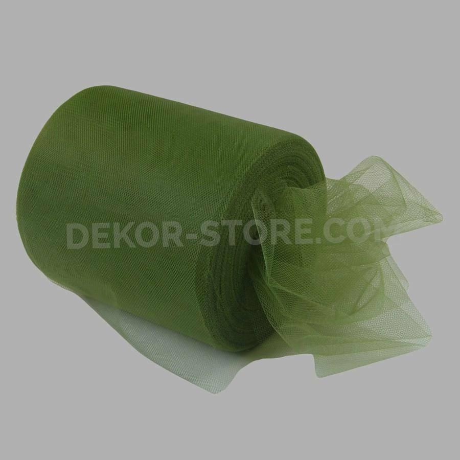 rgb tulle verde muschio - 12,5 cm x 100 mt