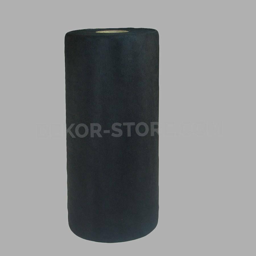 rgb tulle nero - 25 cm x 100 mt