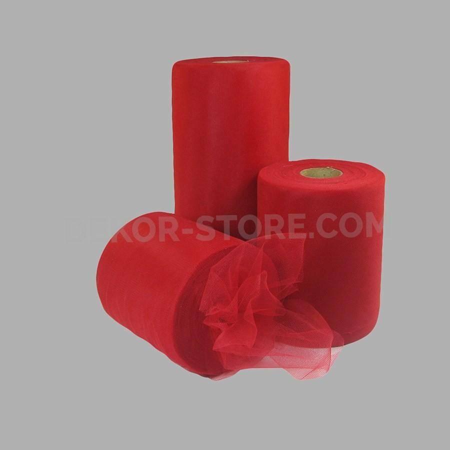 rgb tulle rosso - 25 cm x 100 mt