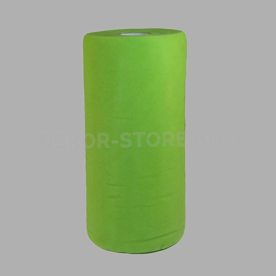 rgb tulle verde mela - 25 cm x 100 mt
