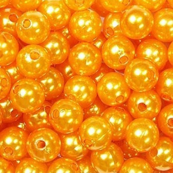 dol24 srl dol24 perle decorative 8 mm arancio - 250 pz