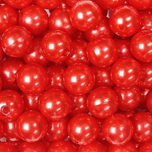 dol24 srl dol24 perle decorative 8 mm rosse - 250 pz