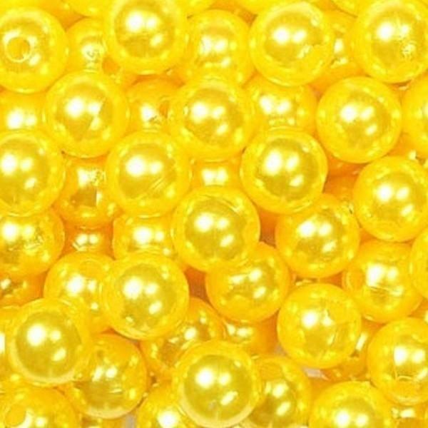 dol24 srl dol24 perle decorative 8 mm gialle - 250 pz