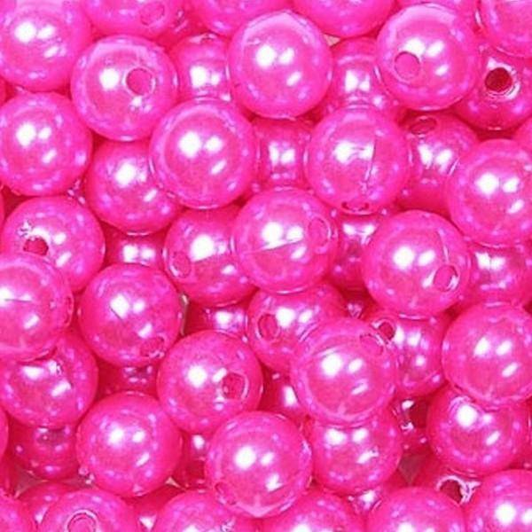 dol24 srl dol24 perle decorative 8 mm fuxia - 250 pz