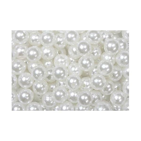 dol24 srl dol24 perle decorative 8 mm bianche - 250 pz