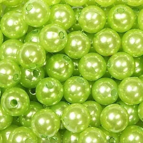 dol24 srl dol24 perle decorative 10 mm verde mela - 115 pz