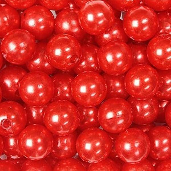 dol24 srl dol24 perle decorative 10 mm rosse - 115 pz