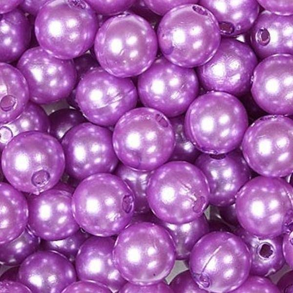 dol24 srl dol24 perle decorative 10 mm lilla - 115 pz