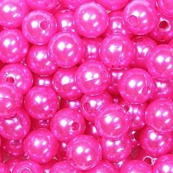 dol24 srl dol24 perle decorative 10 mm fuxia - 115 pz