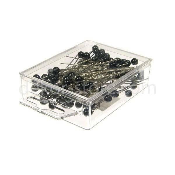 spilli con testa di perla nero 6 mm x 65 mm - 100 pz.