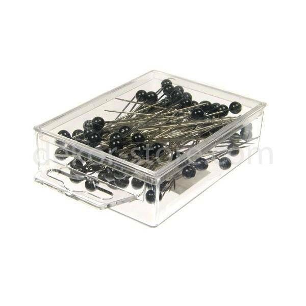 spilli con testa di perla nero 10mm x 60 mm - 50pz