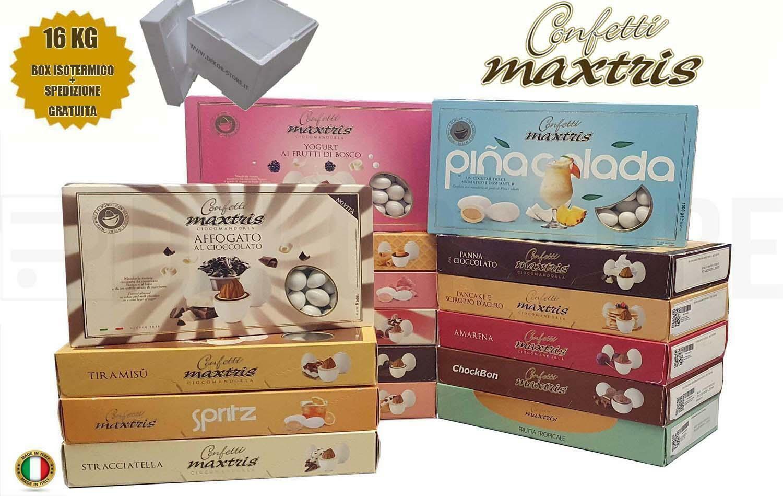 maxtris kit risparmio confetti maxtris 16 kg gusti personalizzati - per 160/220 invitati