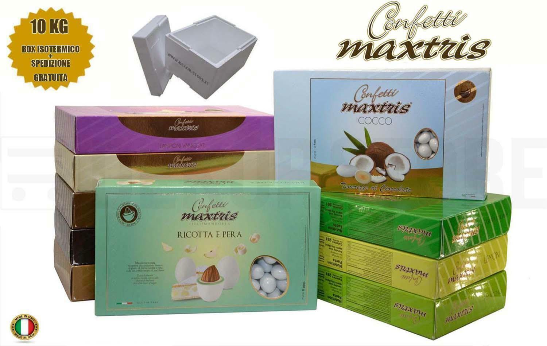 maxtris kit risparmio confetti maxtris 10 kg gusti personalizzati - per 100/150 invitati