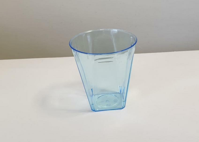 dol24 srl bicchierini in plastica azzurra 6 cl - 12 pz