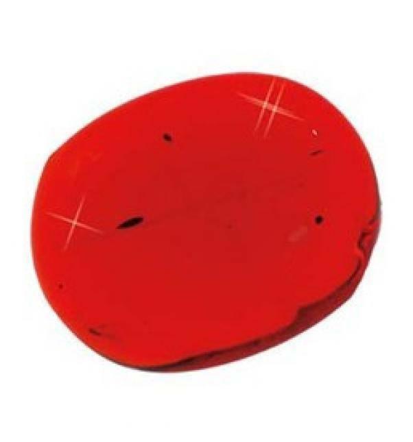 eurosand ciottoli decorativi in vetro rosso 30 mm (100ml)