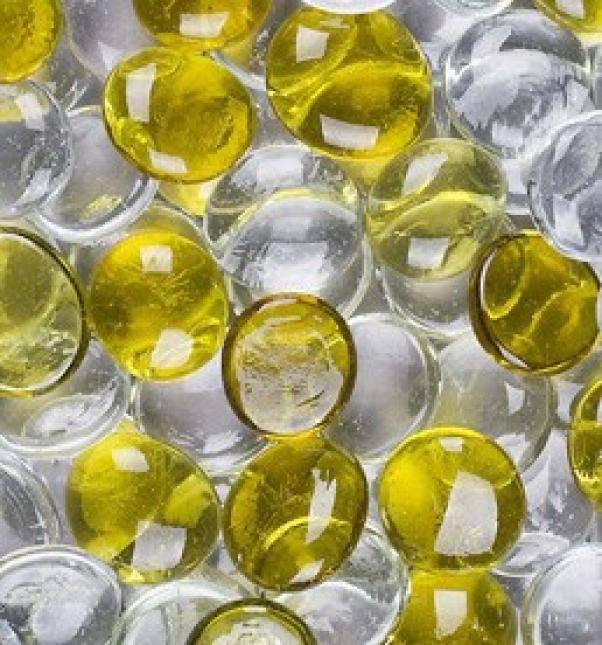 eurosand ciottoli decorativi in vetro mix trasparente/ giallo 30 mm (100ml)